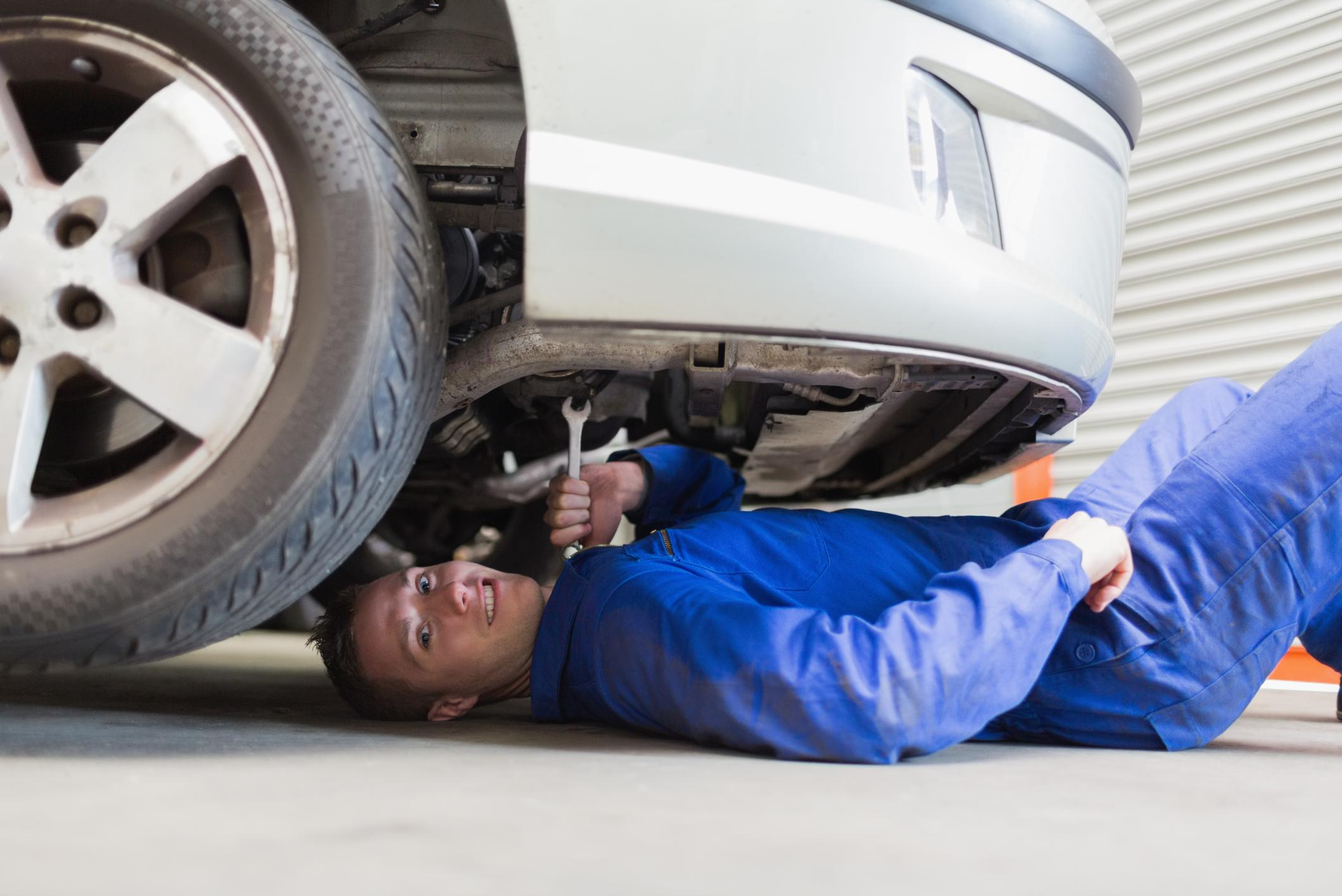 This is a picture of a brake replacement and repair.