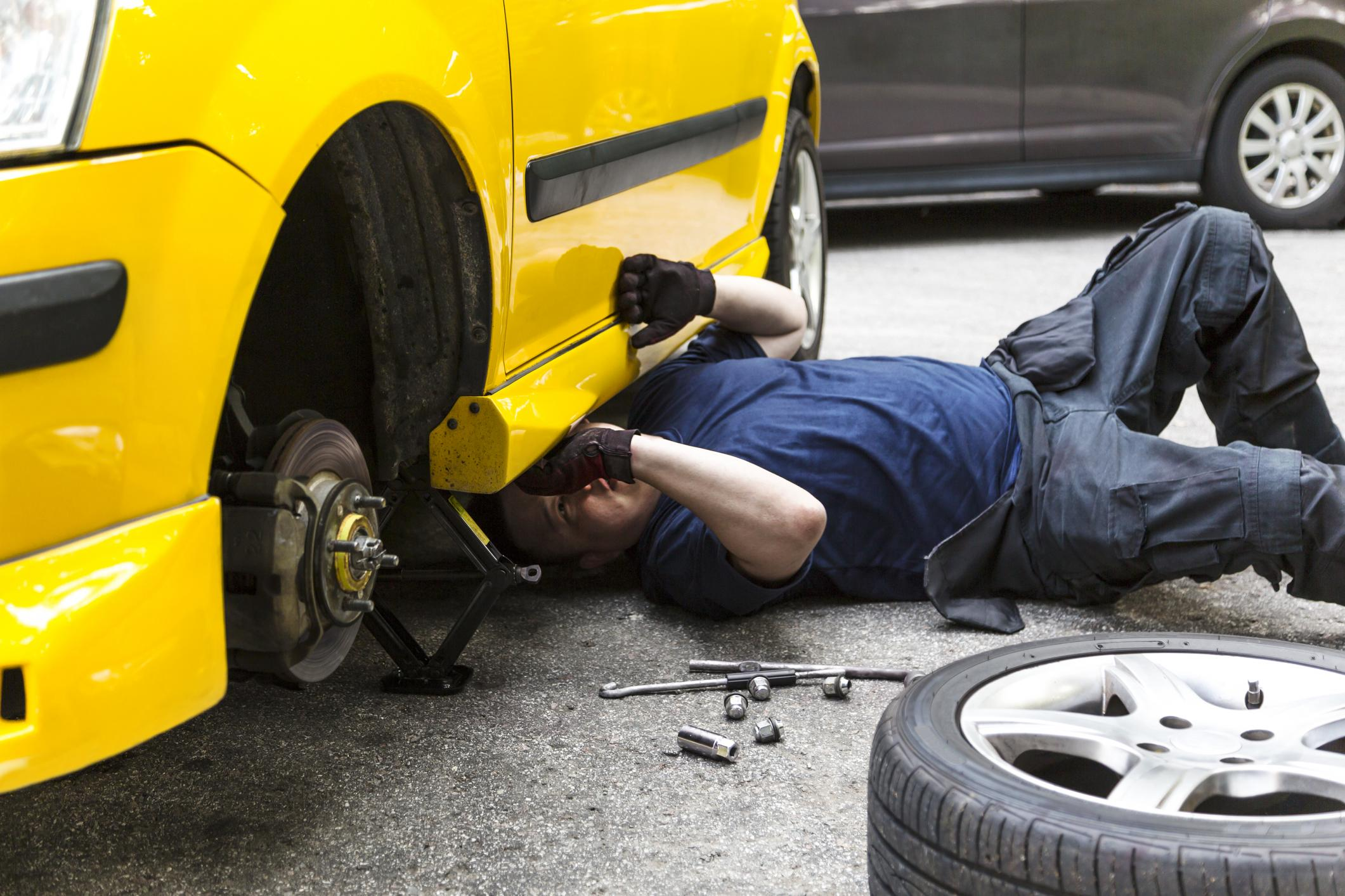 This is a picture of a brake replacement and repair service.