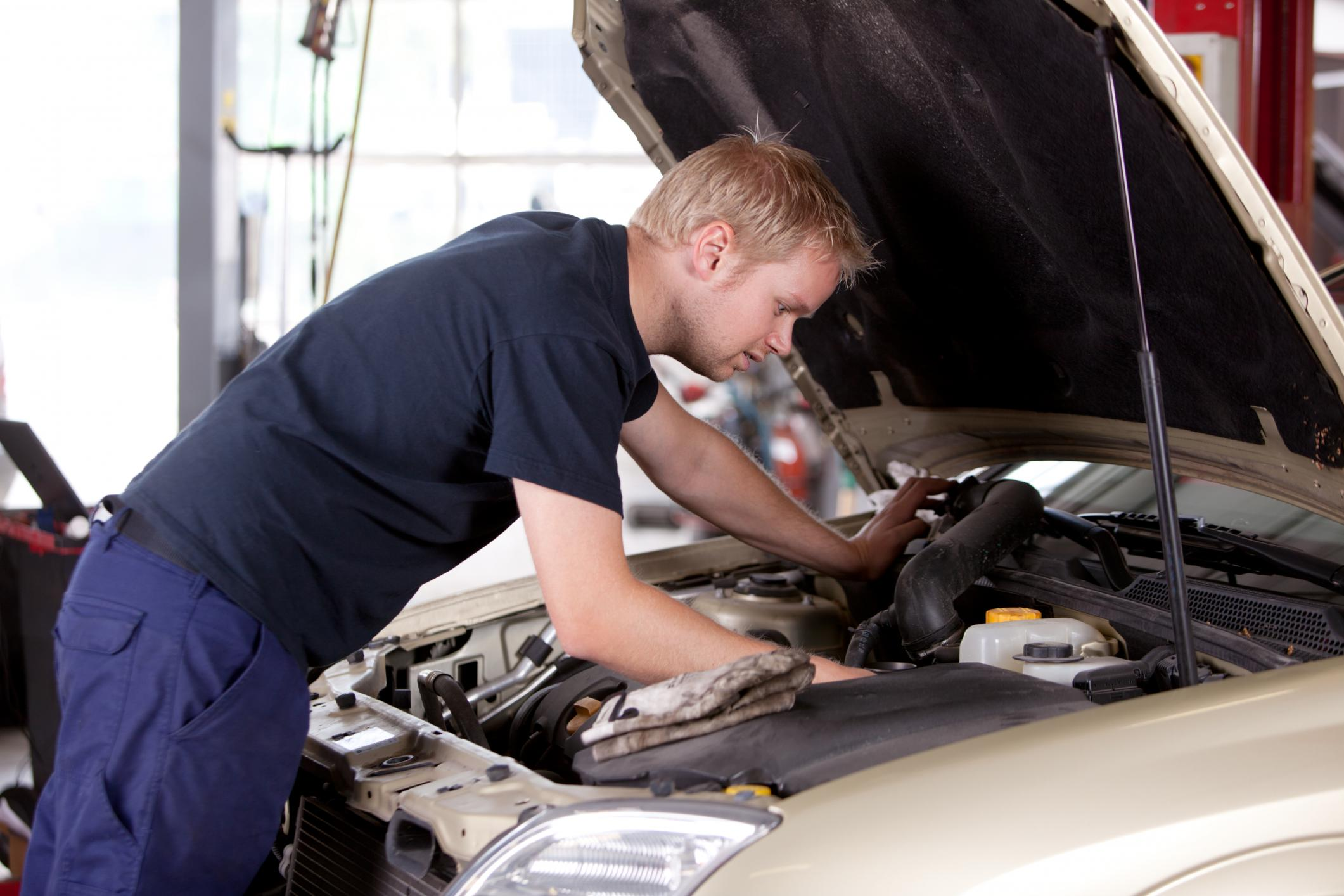 This is a picture of a regular vehicle maintenance.
