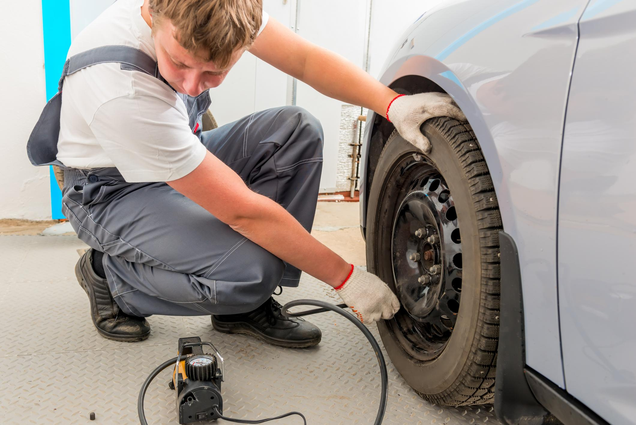 This is a picture of a regular vehicle maintenance service.